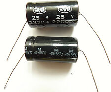 2200uF 25V 85C nover dimensioni 29mmx16mm x2pcs assiale