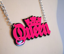 Queen Acrílico Colgante, Rosa Y Negro, Pop Punk, actitud, Candy, Hip Hop