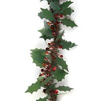 2m Holly & Berry Chunky Tinsel (200x8) CM XmasTree Party Decoration Garland