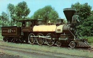 Thatcher Perkins 1863 Locomotive Baltimore & Ohio Railroad Vintage Postcard