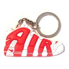 AIR MAX MORE UPTEMPO RED WHITE SUPREME CHICAGO BULLS SNEAKER SHOE KEY CHAIN RING