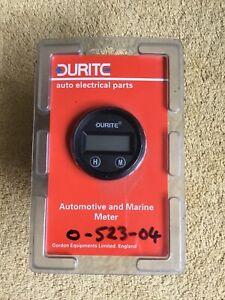 DURITE DASH DIGITAL QUARTZ CLOCK GAUGE 12 / 24 Volt. O-523-04