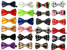 Satin Bow Tie Clip - on Ties for Boys