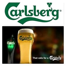 CARLSBERG  SHAPED BEER  GLASS NEW 1 PINT 1PC
