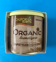 California Scents CAPISTRANO COCONUT Large Organic Car Air Freshener Freshner