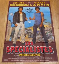 LES SPECIALISTES Affiche cinéma 120x160 PATRICE LECONTE, GIRAUDEAU, LANVIN