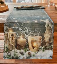 Tischläufer Winterzeit 40 cm x 140 cm, Weihnachten, Schneemotiv