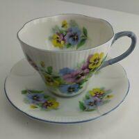Royal Albert Colorful Pansies Tea Cup and Saucer Set 2pc  (5A3)