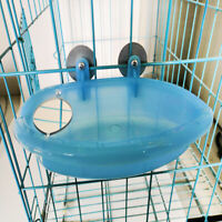 Birds Toys Parrot Bathtub Bird Cage Accessories  Bath Shower Box With Mirror