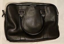 Men's COLE HAAN Black Pebble Leather Wayland Attache Laptop Tablet Bag