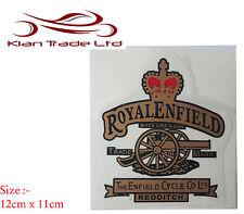 NEU Royal Enfield rot Crown & CANNON Benzintank Oberteil Werkzeugbox Sticker