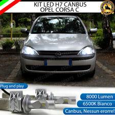 KIT LED H7 CANBUS OPEL CORSA C 8000 LUMEN 6500K ANABBAGLIANTI + PORTALAMPADE