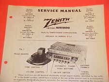 1949 FORD LINCOLN MERCURY CONVERTIBLE COUPE ZENITH AM RADIO SERVICE SHOP MANUAL