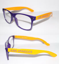 Retro Nerd Brille Los Angeles Lakers gelb lila Kult Brille Herren u. Damen 446