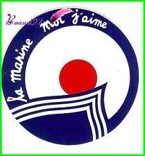Autocollant stickers La Marine Moi J'aime avec un Pompon