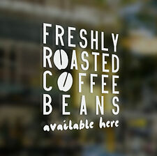 x1 Freshly Roasted Coffee Beans Sticker, Coffee Shop, Bar, Cafe, Restaurant,