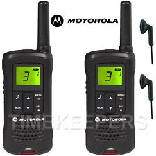 8Km Motorola TLKR T60 Walkie Talkie Two Way Security Leisure Radio + 2 Headsets