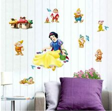 Removable Snow White Seven Dwarfs Wall Decal Stickers Art Baby Room Wall Sticker