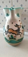 Stunning Vintage Spanish Sanguino Pottery Jug With Leaping Deer Design
