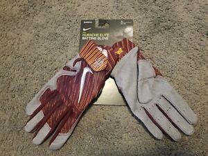 NEW Nike Huarache Elite Baseball Batting Gloves Minnesota Gophers Red Gray Sz XL