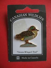 Canadian Wildlife Green-winged Teal Duck Pin Rural Heritage Repro Handcrafted