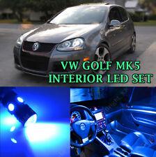 VW GOLF MK5 Interior 2003-2008 BLUE LED BULBS COMPLETE LIGHT UPGRADE SET