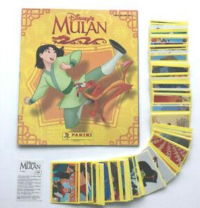 Disney - Mulan  (1998)  kompletter Stickersatz + Leeralbum ,Panini