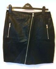 BNWT *NEXT* Size 6 Womens next leather look black skirt, zip details