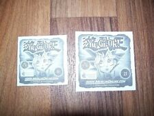 "MERLIN STICKERS ""YU-GI-OH 1996"" 2 sticker/immagini (19 e 21)"