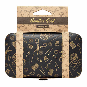 Travel Sewing Mini Kit Case. Hemline Gold plastic free. Great Sewing Gift.