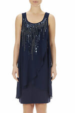 Wallis Stunning Ink Embellished 2 in 1 Dress - size 10  RRP £48
