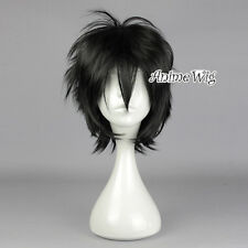 Basic Anime Short Layered Straight Black Heat Resistant Men Cosplay Hair Wig