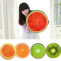 Cushion Lifelike Fruit Slice Foam Pillow Decorative Lemon/Watermelon/Orange U0R9