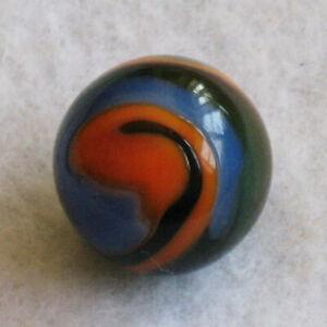 "Peltier Marble Transparent Rainbo Miller Swirl Green Orange Blue .64"" MINT"