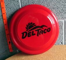 DEL TACO red flying disc Mexican restaurant Frisbee fast-food Sun logo Garyline