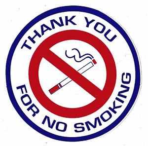 Decal Sticker No Smoking Thank You For No. Smoking
