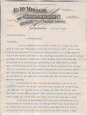 1896 LETTERHEAD - E.M. MILLER - HARDWARE & RAILROAD SUPPLIES - SALT LAKE CITY UT