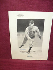 "Original ""SIGNED"" 8 1/2 X 11 PHOTO of  ""HALL-OF-FAMER"" BOB FELLER"