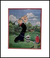 Popeye Golfing Giclee Cell 636/1000 By Myron Waldman