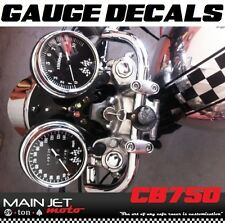 Honda CB750 CB 750 Cafe Racer Gauge Face Decal Overlay Speedometer Tach Applique