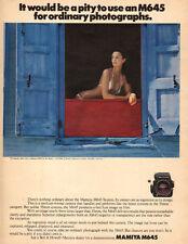1979 Classic Film Camera AD MAMIYA M645 medium format sexy Bikini Model 041516
