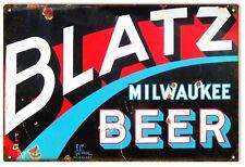 Blatz Milwaukee Beer Bar And Restaurant Sign Garage Art