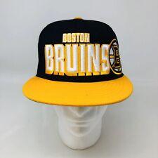 Boston Bruins NHL 47 Brand Adjustable Snapback Cap Hat Black And Yellow