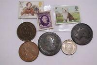 UK GB PENNY 1854 VICTORIA + AUSTRALIA PENNY 1911 + OTHERS LOT B32 N46