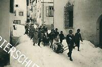 Samaden - Kinder-Schlitteda - Volksbrauch - Brauchtum um 1920       A 12-43