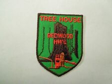 Vintage Tree House Redwood Highway Souvenir California Embroidered Iron On Patch