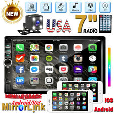 """7"""" Double 2 DIN Car Radio W/ Back up Camera MP5 Player Bluetooth Touch USB FM TF"""