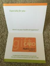 Nutrisystem Gift Card ~ Remaining Balance of $44.77 ~ No Expiration Date