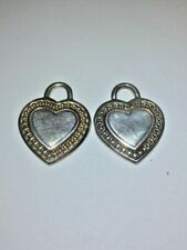 2(TWO) JUDITH RIPKA 925 STERLING SILVER HEART CHARMS