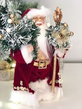 35CM RED TRADITIONAL STANDING FATHER CHRISTMAS SANTA FIGURE CHRISTMAS DECORATION